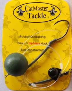 CatMaster Tackle T.T.D Live Bait Rig Deluxe 100lb Yellow Trokar Hook 7//0